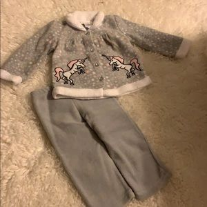Grey And Pink Girls Winter Outfit